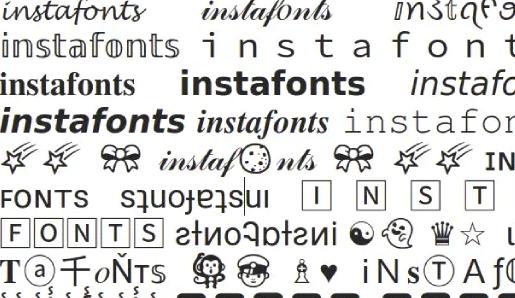 Web Font Instagram