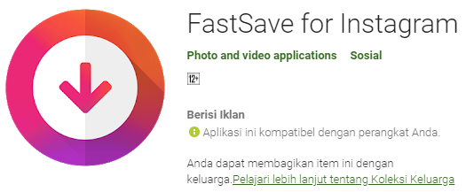 FastSave For Instagram.