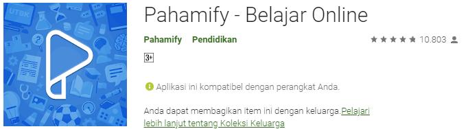 Pahamify - Belajar Online