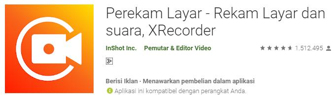 Perekam Layar - XRecorder