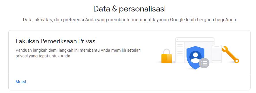 Data & Personalisasi